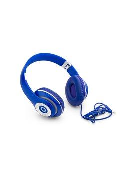 Auriculares Audifonos Spot Largo del Cable 1 M Acabado Goma - Azul Rey