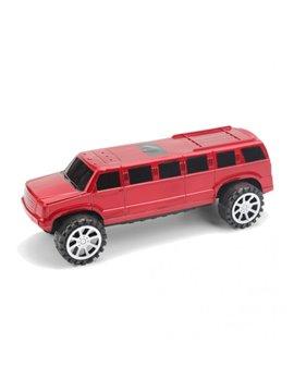 Carro Vehiculo de Juguete Plastico Limosina - Rojo