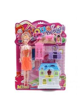 Muñeca House Beauty Incluye Set de Hogar - Rosado