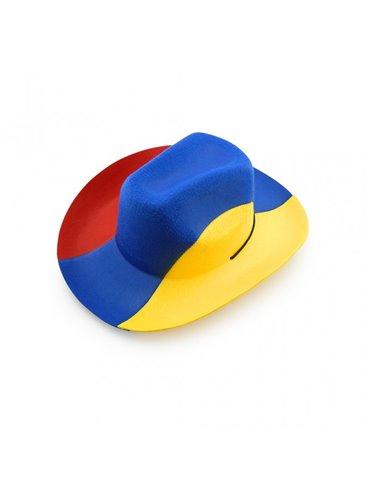 Gorro Sombrero Colombia Tricolor en Fieltro Post-Formado - Tricolor