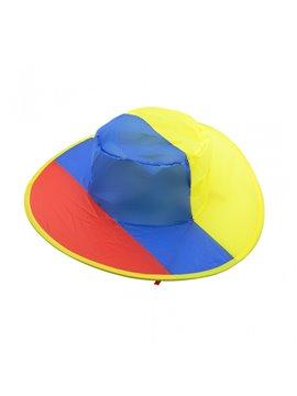 Gorro Sombrero Dos Tiras Amarrar Plegable Colombia - Tricolor