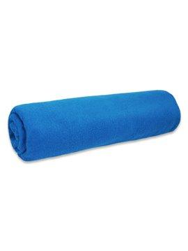 Manta Cobija Fleece Termica Textura Suave - Azul Rey