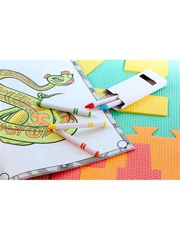 Accesorio Caja De Crayones Snake 5 Colores - Blanco