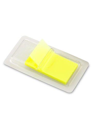 Estuche plastico Flag dispensador con 50 stickies - Transparente