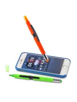 Esfero Boligrafo Royce Neon 3-1 Resaltador Stylus - Azul Neon
