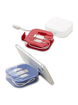 Cable Multicargador Duncan Entrada Iphone Micro 2 en 1 - Azul
