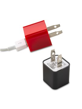 Adaptador De Pared Para Cable USB - Negro