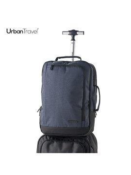 Morral Maleta Backpack 3 en 1 Gamma Banda Trolley - Negro