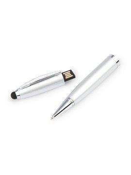 Esfero Boligrafo USB 4 Gb Sistema Touch Twist - Plateado