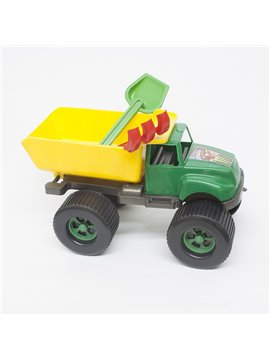 Juguete Volqueta Grande Con pala y Rastrillo En Plastico - Verde