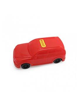 Carro Juguete Pioolli Decorable con Sticker - Rojo