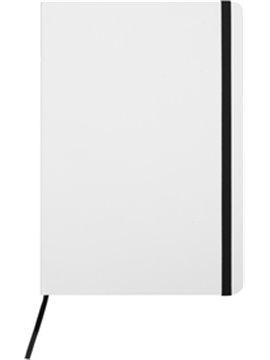 Cuaderno Libreta Mediana White 80 Hojas - Negro