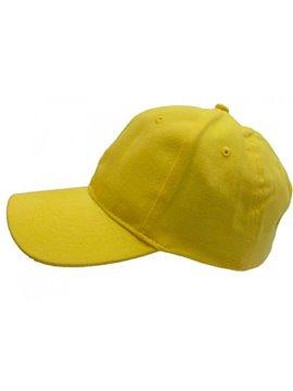 Gorra Confeccionada en Drill 6 Cascos Frente Fusionado - Amarillo