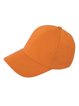 Gorra Confeccionada en Drill 6 Cascos Frente Fusionado - Naranja
