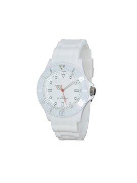 Reloj de Pulso Silicona Estuche Traslucido Water Resistant - Blanco
