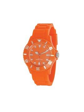 Reloj de Pulso Silicona Estuche Traslucido Water Resistant - Naranja