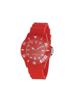 Reloj de Pulso Silicona Estuche Traslucido Water Resistant - Rojo