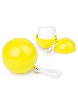 Bola plastica con capa Impermeable con mosqueton - Amarillo