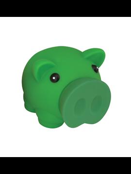 Alcancia Elaborada en PVC Mini Cerdito Trompa Removible - Verde