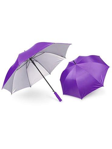 Paraguas Golf Interior Plateado 27 Pulgadas Alta Calidad - Morado