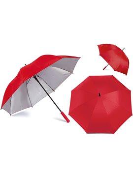 Paraguas Golf Interior Plateado 27 Pulgadas Alta Calidad - Rojo
