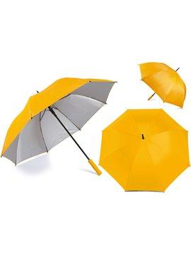 Paraguas Golf Interior Plateado 27 Pulgadas Alta Calidad - Amarillo
