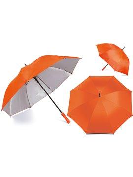 Paraguas Golf Interior Plateado 27 Pulgadas Alta Calidad - Naranja