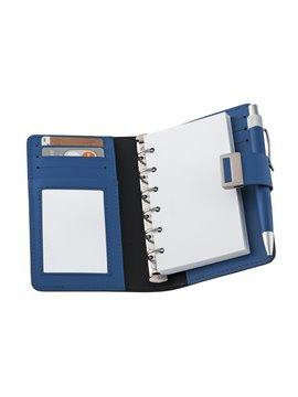 Agenda Libreta Porta Documentos En Cuero A6 - Azul