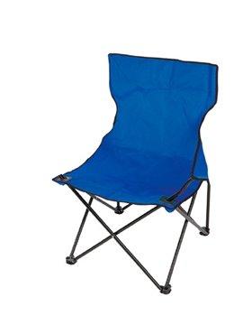 Silla Plegable Sencilla Con Soporte Metalico - Azul Rey
