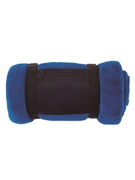 Cobija Manta En Fleece Softy Especial CRL Mayor Suavidad - Azul Rey