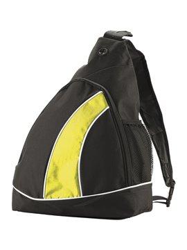 Bolso Morral Manos Libres Atlas Amplio Compartimento - Negro/Amarillo