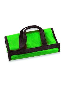 Bolsa Tula Shopping Bag Plegable En Velcro Con Agarraderas - Verde
