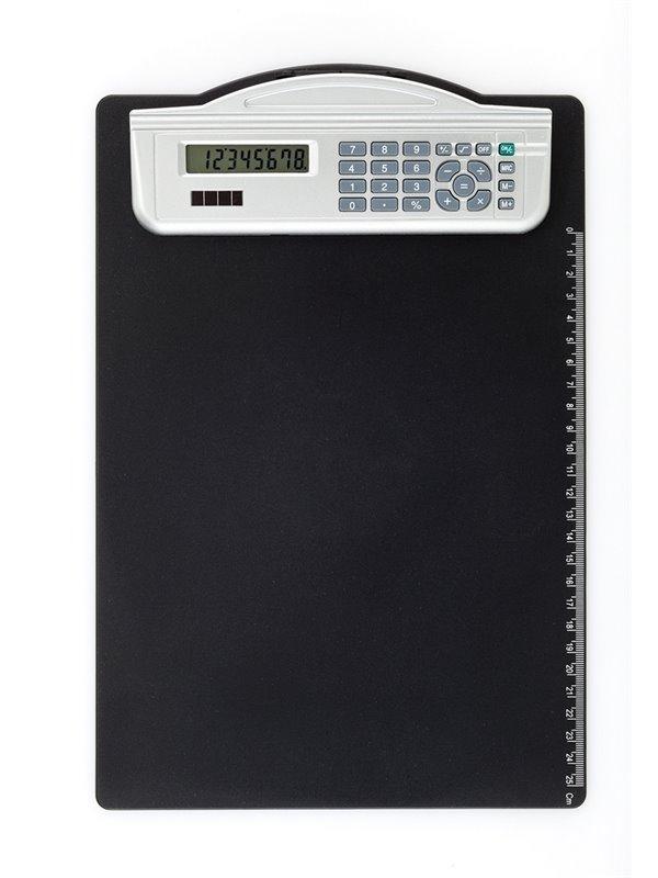Tabla Para Anotar con Calculadora Solar Clipboard 8 Digitos - Negro