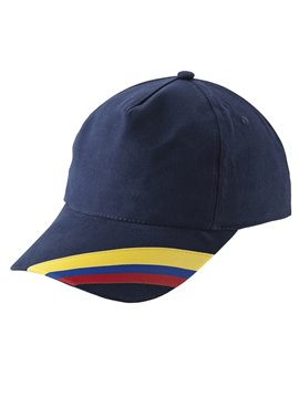 Gorra Cachucha Colombia 5 Cascos Dril Visera Indeformable - Azul Oscuro