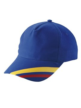 Gorra Cachucha Colombia 5 Cascos Dril Visera Indeformable - Azul Rey