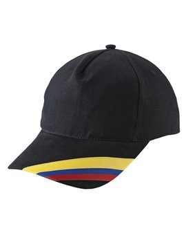 Gorra Cachucha Colombia 5 Cascos Dril Visera Indeformable - Negro
