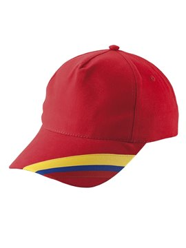 Gorra Cachucha Colombia 5 Cascos Dril Visera Indeformable - Rojo