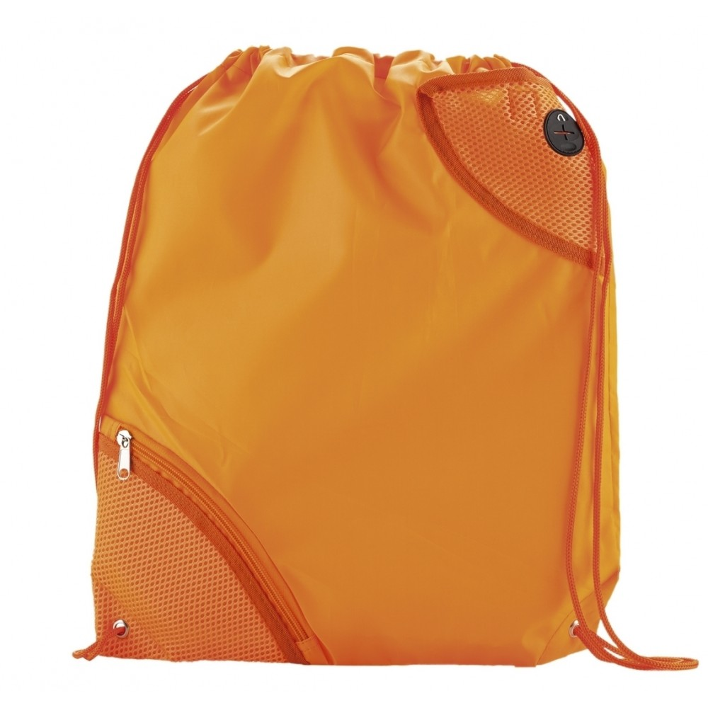 Tula Mochila Sporty Bag Molt En Poliester Bolsillo Exterior - Naranja