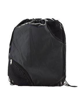 Tula Mochila Sporty Bag Molt En Poliester Bolsillo Exterior - Negro