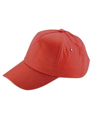 Gorra Cachucha Golf En Dril De 5 Cascos Visera Indeformable - Rojo