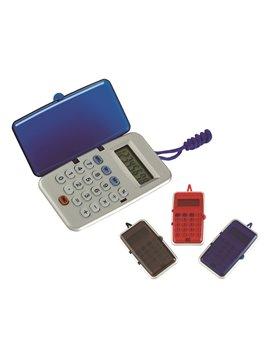 Calculadora Plastica 8 Digitos Neck Con Tapa y Cordon - Azul