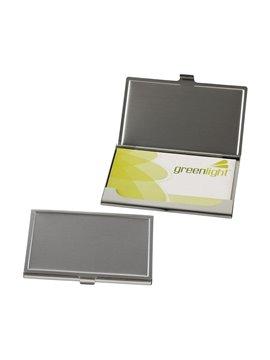 Portatarjetas Aluminio Lim Mate Practico Diseño - Plateado