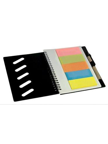Libreta Cuaderno Gulliver Eco Doble Argolla y Boligrafo - Verde