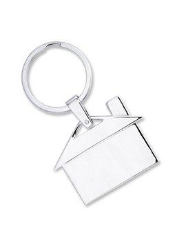 Llavero Silver Metalico Con Forma De Casa - Plateado