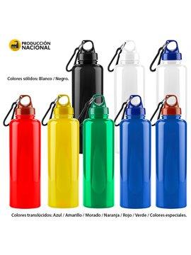 Botella Botilito Carabinero Pvc 500Ml Atoxico Tapa Plastica - Azul Traslucido