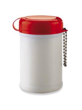 Mini Frasco Plastico Panos Humedos Antibacterial - Rojo