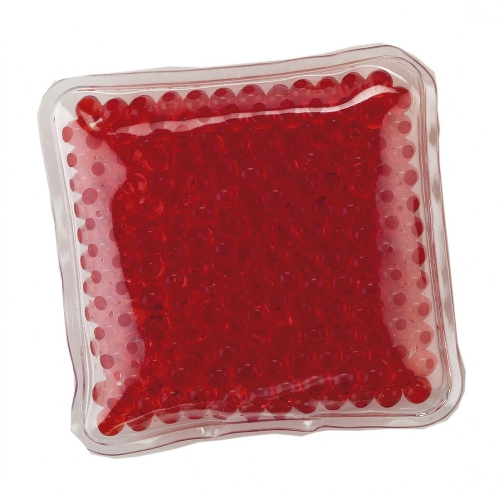 Pad Cojin Cool And Hot Pad Forma Cuadrada Con Gel - Rojo