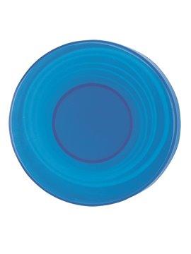 Pastillero Plastico Circular 2 En 1 Con Vaso Plegable - Azul