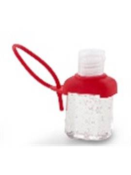 Gel Antibacterial Capaciadad de 30 Ml Funda en Silicona - Rojo