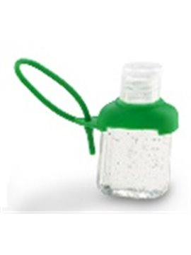 Gel Antibacterial Capaciadad de 30 Ml Funda en Silicona - Verde